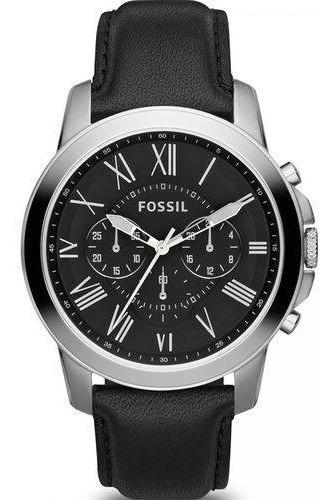Relógio Fossil Masculino Grant Fs4812/0pn Preto Couro Oferta