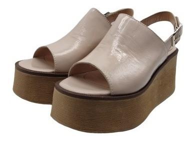 Sandalias Zapatos Cuero Base Goma Mujer Moda 6450mk
