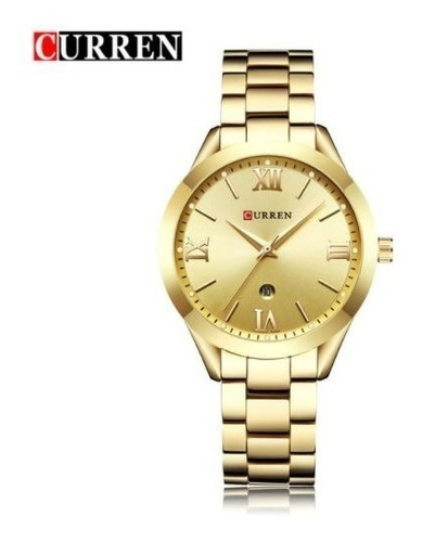 Relógio Curren Feminino Quartz Original Com Data E Caixinha