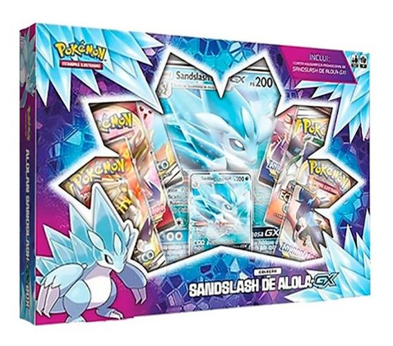 Pokemon Box Sandslash De Alola-gx Cards Cartas
