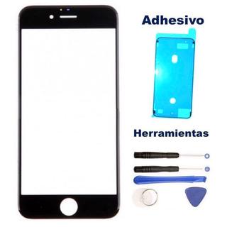 iPhone 8 8g Cristal Touch Gorilla Glass Negro + Kit Adhesivo