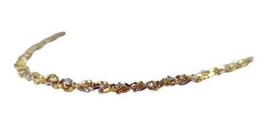 Colar Cordão Trançado Especial 42cm Ouro 18k - 2030