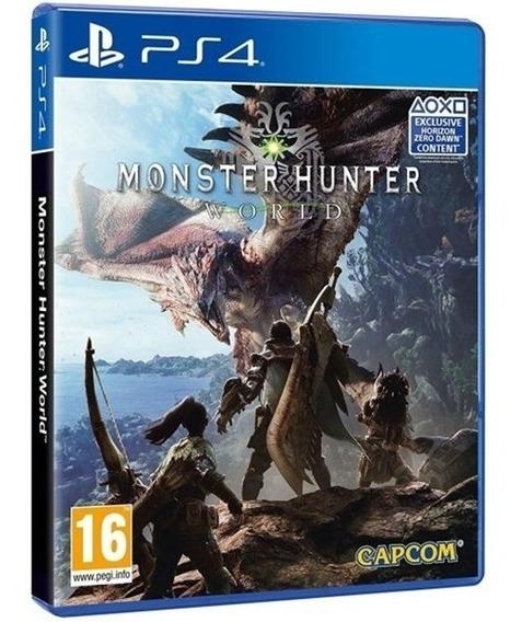 Game Monster Hunter World Ps4 Disco Fisico Novo Português Br