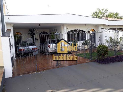 Casa Com 3 Dormitórios À Venda, 186 M² Por R$ 435.000 - Jardim Paulista - Ribeirão Preto/sp - Ca0589