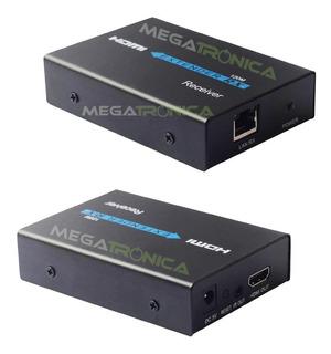 Extensor Hdmi Por Tcp/ip Cable Utp Activo 120mt Cat5/6 S/fue