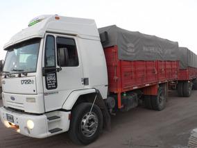 Ford Cargo 1722 E 2009 Enganchado Con Acoplado Sola Y Brusa.