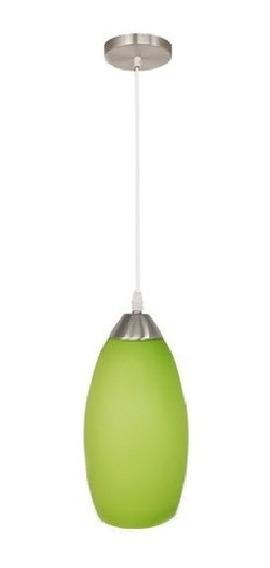 Lámpara Colgante Candil Techo Vidrio Soplado Verde Maxxi