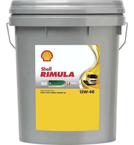 Imagen 1 de 2 de Aceite Motor Shell Rimula R4 15w40 Ck-4 18,9 Lts Shell