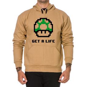 Moletom Casaco Super Mario Bros Blusa De Frio Get A Life
