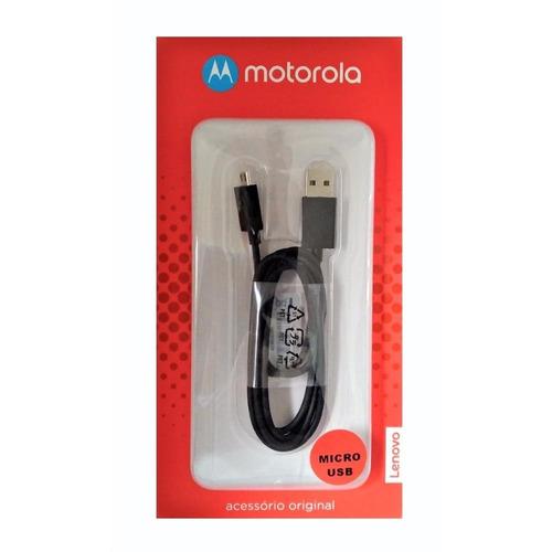Imagem 1 de 1 de Cabo De Dados Original Motorola Usb/micro Usb Preto