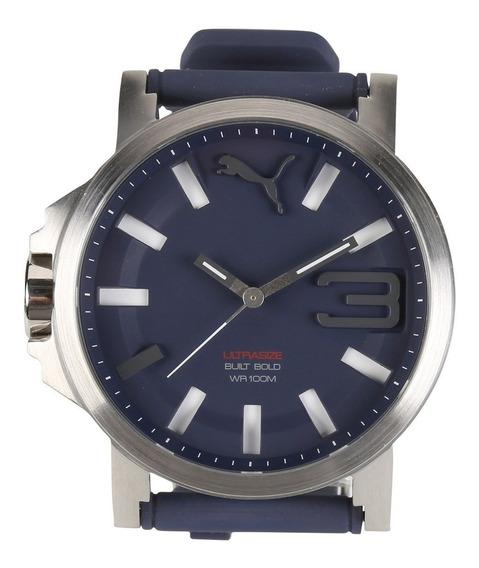 Relógio Puma Ultrasize Azul Com Prata