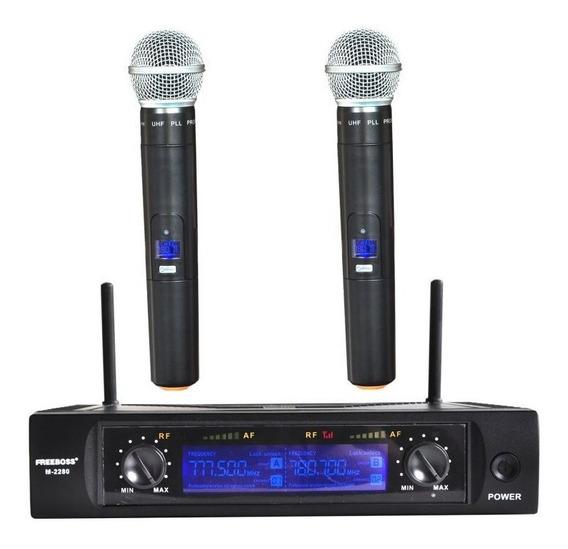 Sistema De Microfone Headset Sem Fio 2 Canais 50 Metros