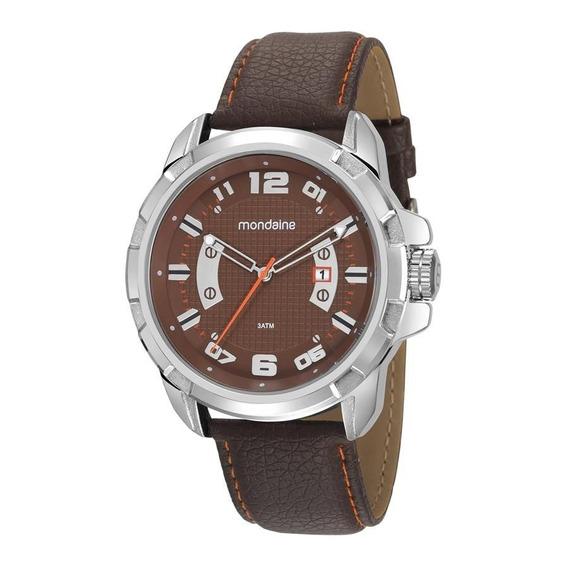 Relógio Original Mondaine Pulseira De Couro Cromado C/ Nfe