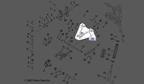 Polaris 2003-2007 Sportsman 400 Rh Weld-upper Control 1014321-293 New OEM