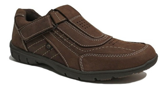 Zapatillas Hombre Cuero Zapato Abrojo Urbana Korek 8300