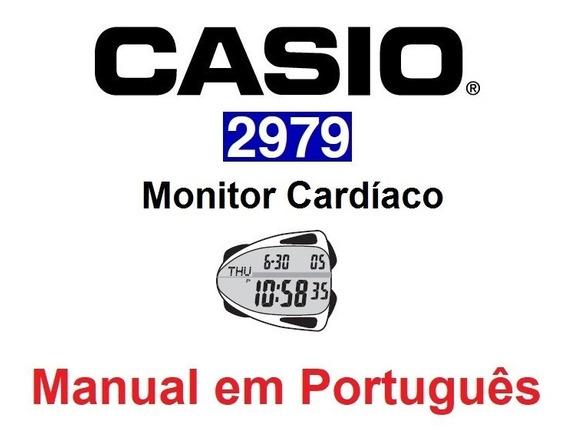 Manual Em Português Do Monitor Cardíaco Casio 2979