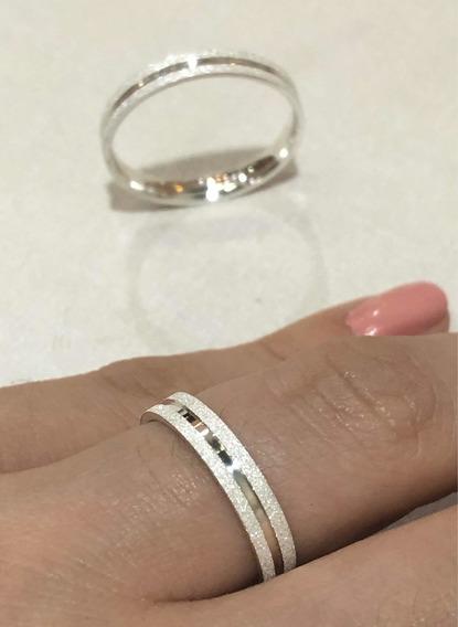 Par De Aliança Em Prata 975 Legítima Diamantada Anatômica