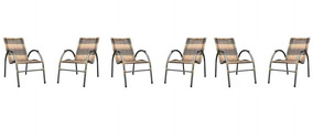 Conjunto De 6 Cadeiras De Varanda Artesanal Móveis Famais