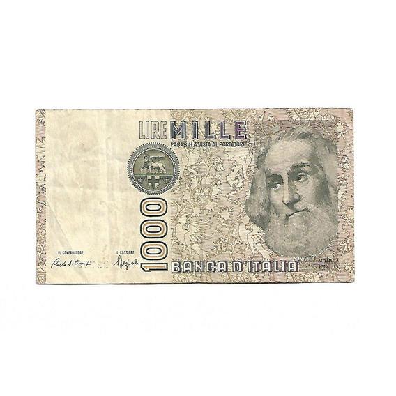 Cédula Nota Original 1000 Lire Da Itália 1982 I-596