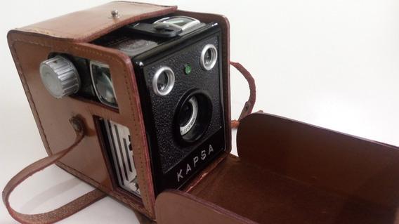 Câmera Fotográfica Kapsa Década 1950 Pinta Verde Filme 120mm