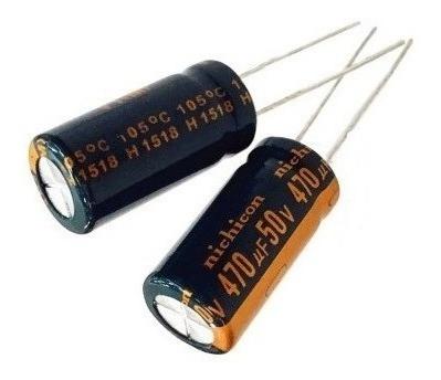 Capacitor Eletrolítico 470uf 50volts 10 Pçs - Em Estoque