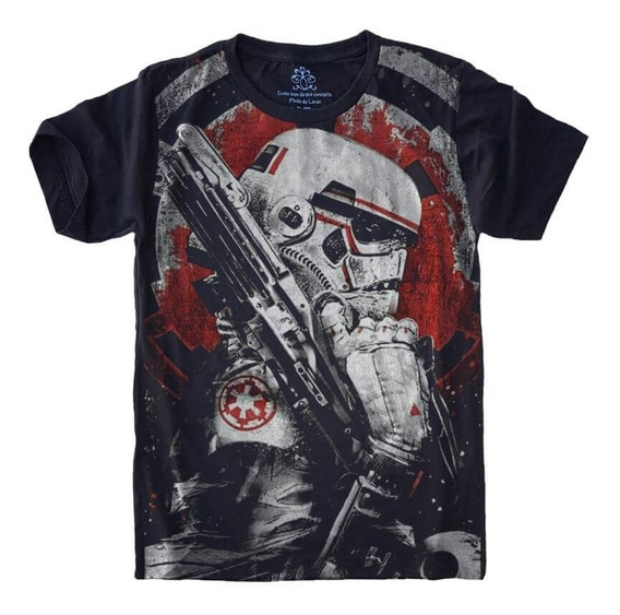 Camiseta T-shirt Tamanho Plus Size Full Print Storm Trooper