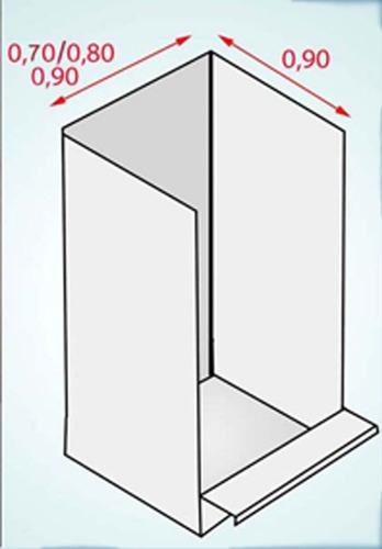 Imagen 1 de 4 de Receptaculo / Modulo De Ducha Para Casilla O Motorhome