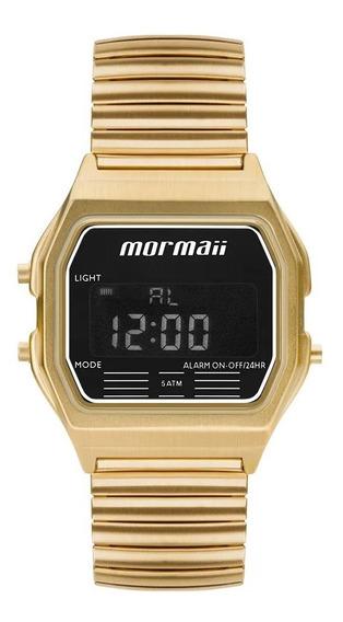 Relógio Digital Dourado Preto Feminino Mormaii Vintage Mojh02au/4d Original
