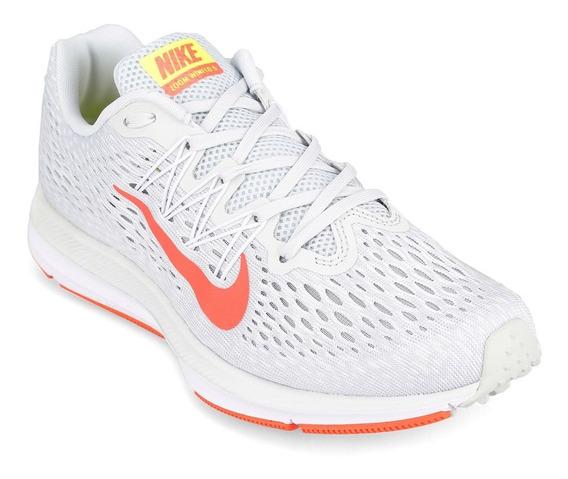 Zapatillas Nike Air Zoom Winflo 5 - Gris Y Naranja - Running
