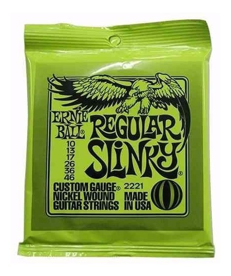 Set Cuerdas Ernie Ball 2221 10-46 Regular Slinky Guitarra