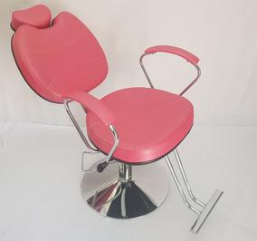 Poltrona Cadeira Topazio Base Redonda Reclinavel 2 Rosa Acet