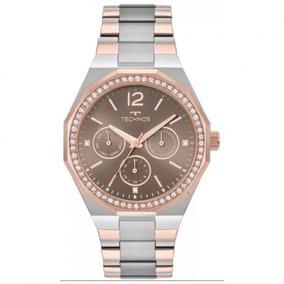 Relógio Feminino Technos Elegance 6p29ajb/5m - Prata/rosê