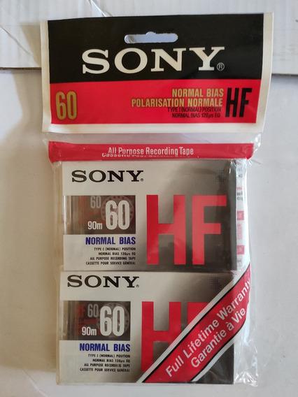 4 Fitas K7 Sony Hf60 Novas E Lacradas