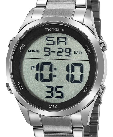 Relógio Mondaine Digital Prata 53965g0mvne1 Feminino C/ Nfe