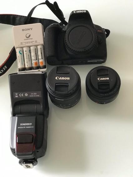 Câmera Canon T7i - Super Nova Com Lentes E Acessórios