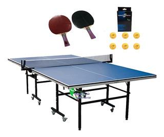 Mesa Ping Pong Sportfitness 18mm Profesional + Kit Raquetas
