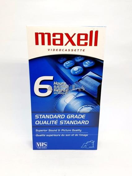 Fita Video Cassete Maxell 6 Horas Qualidade Standard Vhs