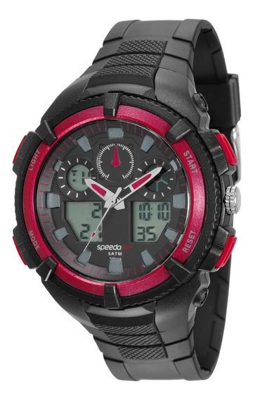 Relógio Speedo Masculino Anadigi Vermelho Esportivo