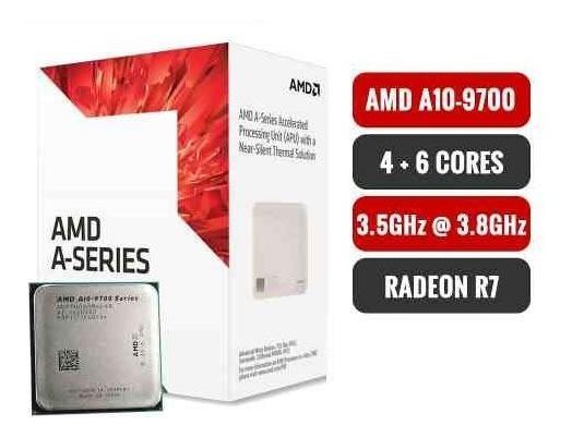Procesador Amd A10-9700 Ad9700agabbox Am4 Ticotek