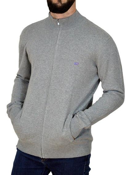 Cardigan Sweater Tejido Algodón Bordado Hombre Mistral 14793