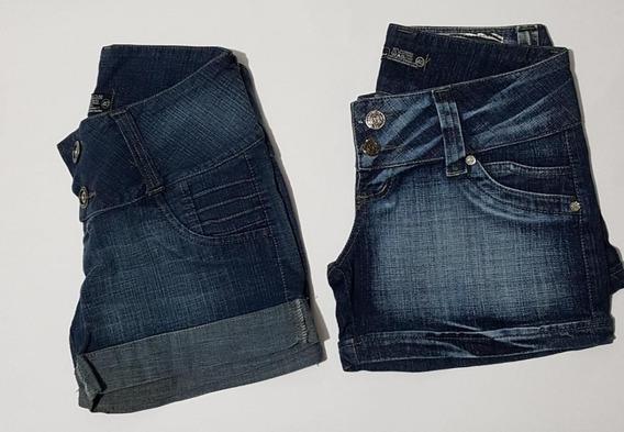 Lote Kit 3 Shorts Jeans Feminina Cintura Baixa Ponta D Estq