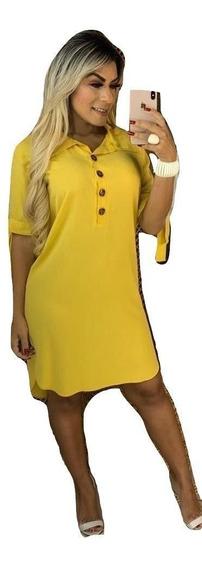 Vestido Chemise Feminino Camisao Chamise Plus Size P Ao G3
