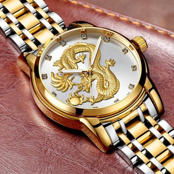 Reloj Guanqin Cuarzo Para Caballero, Fino Diseño Original