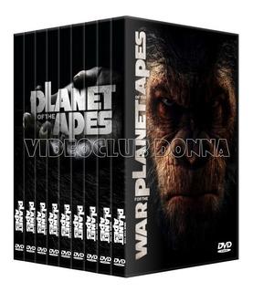 El Planeta De Los Simios 9 Peliculas Coleccion Dvd Pack