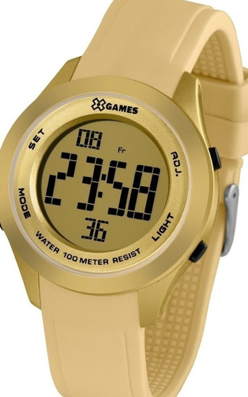 Relógio Feminino Xgames Puls Silicone 100m Ref.xmppd599-cxtx