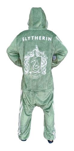 Pijama Macacão Harry Potter Hogwarts Sonserina Adulto G