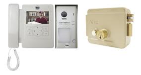 Kit Cerradura Eléctrica Con Botón 678 + Vídeo Portero 4702