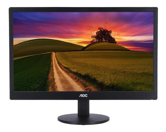 """Monitor AOC E970SWNL LED 18.5"""" preto 220V"""