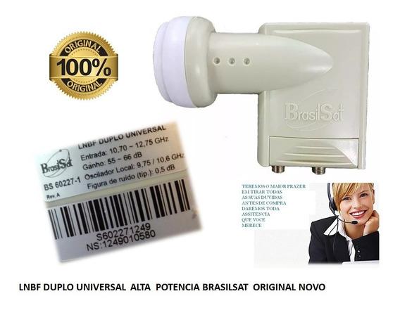Lnbf Universal Duplo Brasilsat Ku Original Super Potente