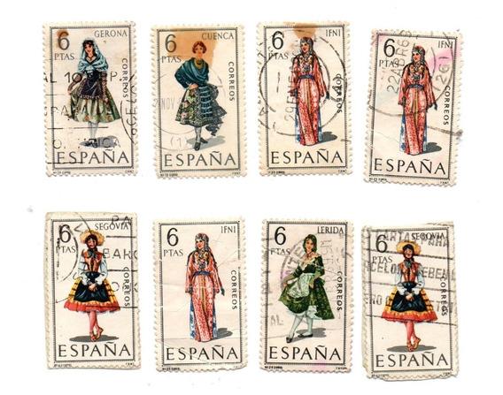 8 Estampillas De España 6 Pesetas